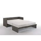 Barham Cube Queen Murphy Bed with Mattress Color: Gray