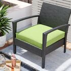 Indoor/Outdoor Chair Cushion Fabric: Apple Green, Size: 3