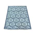 One-of-a-Kind Dessie Paisley Knot Hand-Knotted Blue Area Rug