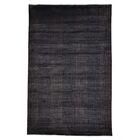 Nepali Tone on Tone Hand-Knotted Black Area Rug