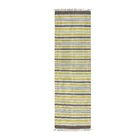Flat Weave Striped Durie Kilim Hand-Knotted Chocolate Brown/Yellow/Ivory Area Rug