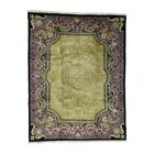 European Nepali Hand-Knotted Gold Area Rug