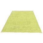 One-of-a-Kind Keeso Cast Overdyed Hand-Knotted Yellow Area Rug