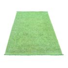 One-of-a-Kind Keeso Cast Overdyed Hand-Knotted Green Area Rug