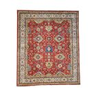 One-of-a-Kind Tillotson Special Hand-Knotted Red/Ivory Area Rug