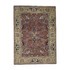 One-of-a-Kind Rueter Re-creation Hand-Knotted Rust Red Area Rug