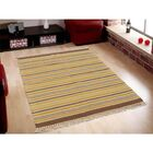 Flat Weave Durie Kilim Reversible Hand-Knotted Yellow Area Rug