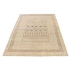 One-of-a-Kind Rothenberg Undyed Natural Hand-Knotted Ivory Area Rug