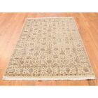 One-of-a-Kind Salzer Hand-Knotted Beige Area Rug