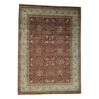 One-of-a-Kind Ruelas 300 Kpsi Revival Hand-Knotted Wool Red Area Rug