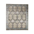 Oidized Ancient Couche Hand-Knotted Silk Brown Area Rug