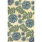Janke Marigolds Hand-Hooked Beige/Blue Indoor/Outdoor Area Rug Rug Size: Rectangle 2'10