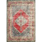 Ralph Soft Gray/Red Area Rug Rug Size: Rectangle 5'3