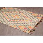 Rambert Southwestern Hand-Woven Gold Wool Area Rug Rug Size: Rectangle 5' x 8'