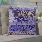 Bergan Leather Throw Pillow Color: Purple