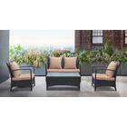 Wainwright 4 Piece Rattan Sofa Set with Cushions