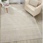 Romans Solid Hand-Tufted Vapor Ivory Area Rug Rug Size: Rectangle 9'6