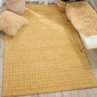 Dove Hand-Woven Wool Gold Area Rug Rug Size: Rectangle 6'6