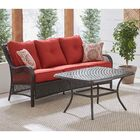 Insley 2 Piece Rattan Sofa Set with Cushion Cushion Color: Autumn Berry