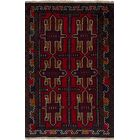 One-of-a-Kind Doak Red Hand-Knotted Wool Red Area Rug
