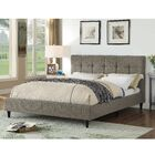 Horst Square Stitched Upholstered Platform Bed Size: King, Color: Gray