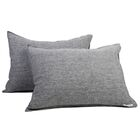 Linen Sham Size: King, Color: Heather Charcoal