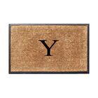 Fooks Molded Double Monogrammed Doormat Letter: Y