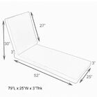 Hinged Outdoor Chaise Lounge Cushion Size: 25