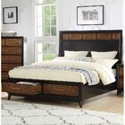 Bodnar Storage Panel Bed Color: Black, Size: Eastern King