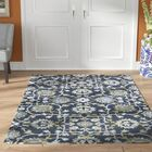 Bessie Hand-Tufted Wool Gray/Blue Area Rug Rug Size: Rectangle 5' x 7'6''