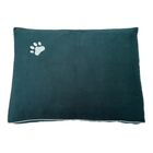 Dog Bed Pillow Color: Green/White