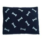 Dog Bed Pillow Color: Ice Blue/Navy