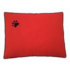 Dog Bed Pillow Color: Red/Black