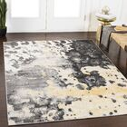 Ramm Abstract Charcoal/Gray Area Rug Rug Size: Rectangle 5'3