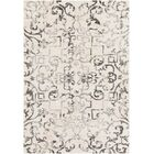 Rameriz Distressed Charcoal/Butter Area Rug Rug Size: Rectangle 5'3