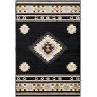 Thornton Bohemian/Global Black/Cream Area Rug Rug Size: Rectangle 6'7