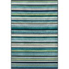 Eley Striped Teal/Grass Green Area Rug Rug Size: Rectangle 8'10