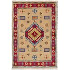 One-of-a-Kind Doering Hand-Knotted Wool Tan Area Rug