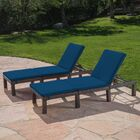 Rusowicz-Orazem Reclining Chaise Lounge with Cushion Cushion Color: Blue