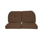 Wicker Indoor/Outdoor Sunbrella Loveseat Cushion Fabric: Coffee