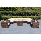Baril Curved 8 Piece Sectional Set with Cushions Cushion Color: Beige