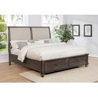 Hamilton Upholstered Storage Sleigh Bed Size: King