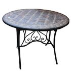 Charest Round Mosaic Metal Bistro Table