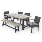 Ortonville 6 Piece Wicker Dining Set with Cushions