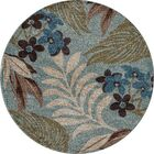 Lynbrook Blue/Brown Area Rug Size: Round 5'3