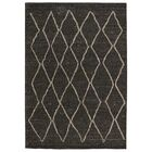 Hollon Dark Brown Area Rug Rug Size: Rectangle 7'10