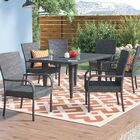 Kissner Outdoor 7 Piece Dining Set Color: Gray