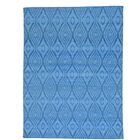 Reversible Flat Weave Kilim Oriental Hand-Knotted Cotton Blue Area Rug