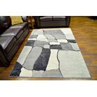 Eclipse 3D Modern Contemporary Abstract Gray Area Rug