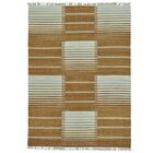Flat Weave Durie Kilim Oriental Hand-Knotted Brown Area Rug